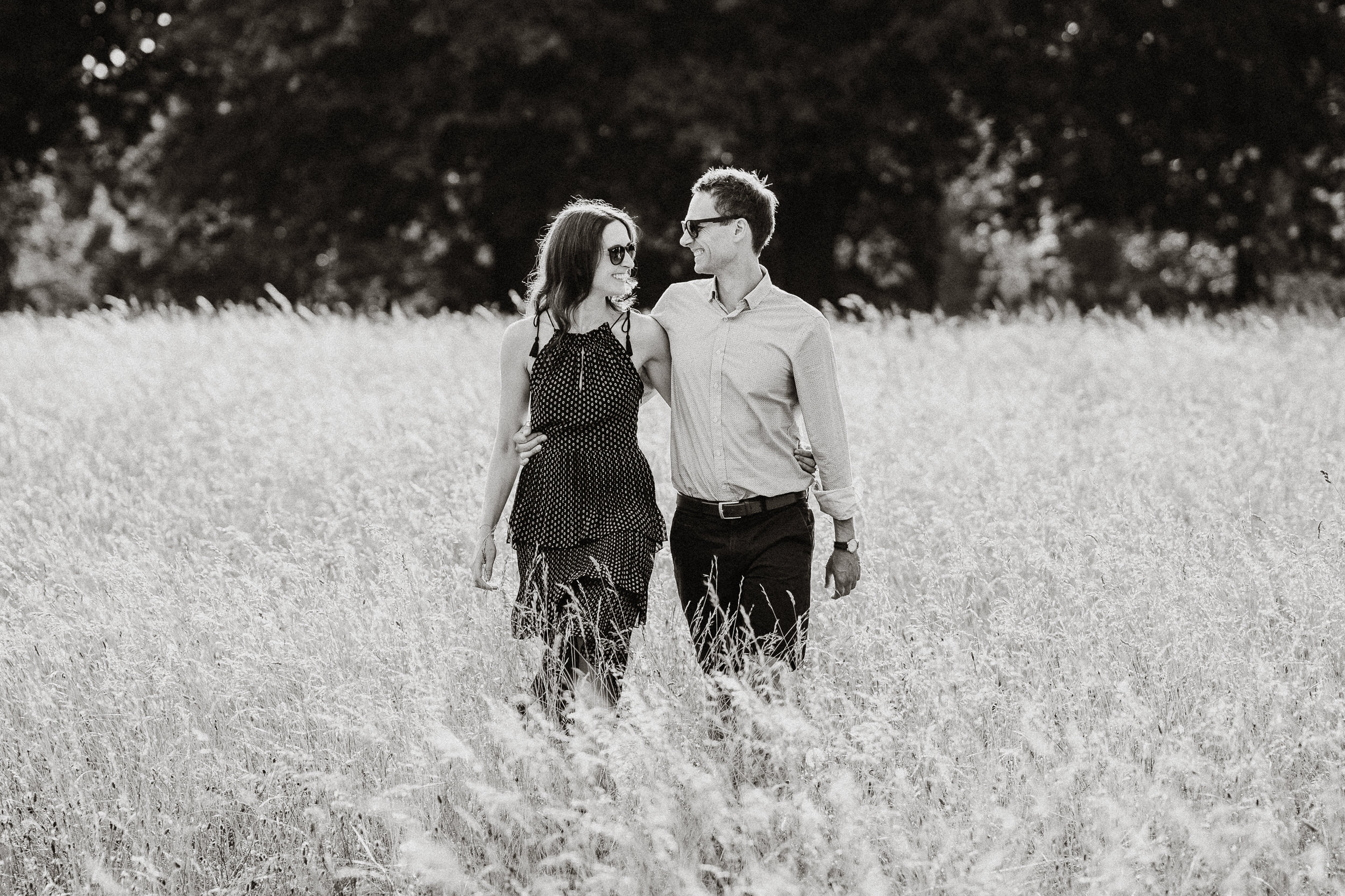 Engagement Shoot on Clifton Downs - The couple on Durdham Downs in Bristol