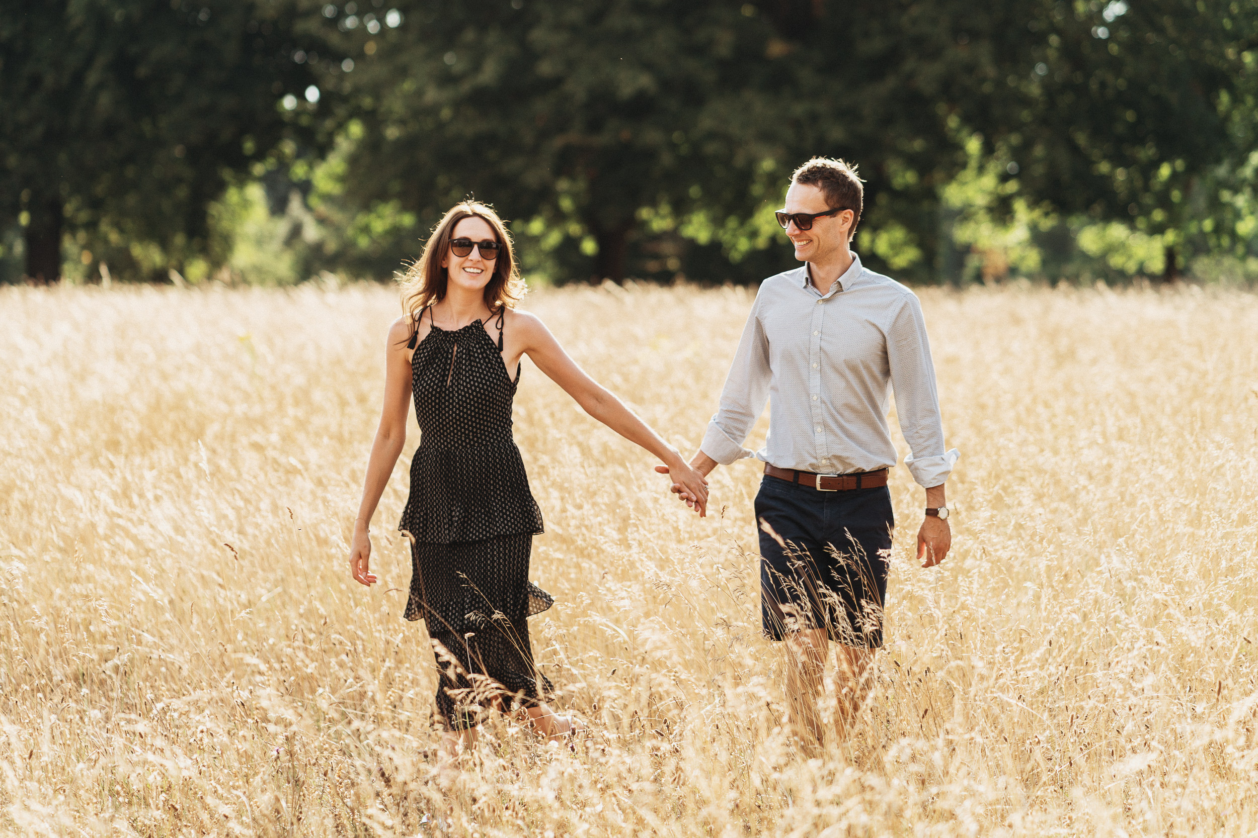 Engagement Shoot on Clifton Downs - Natural light portrait