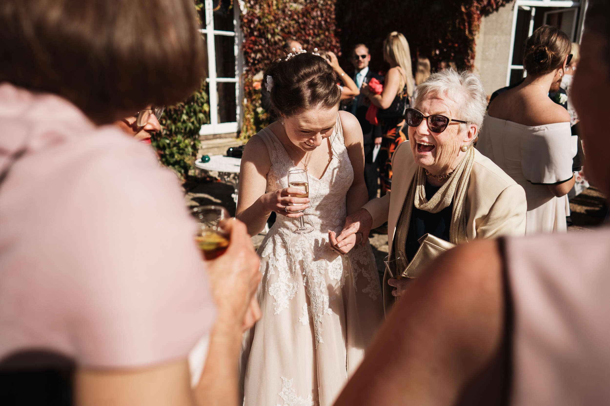Pennard House Wedding - Champagne Reception
