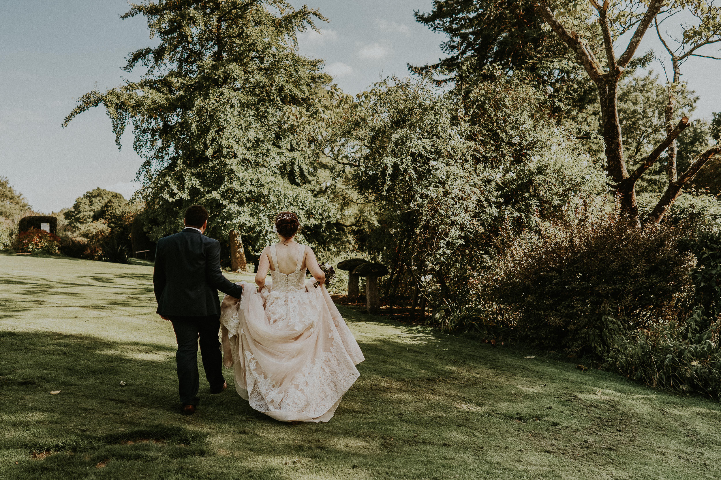 Pennard House Wedding - Bride and Groom