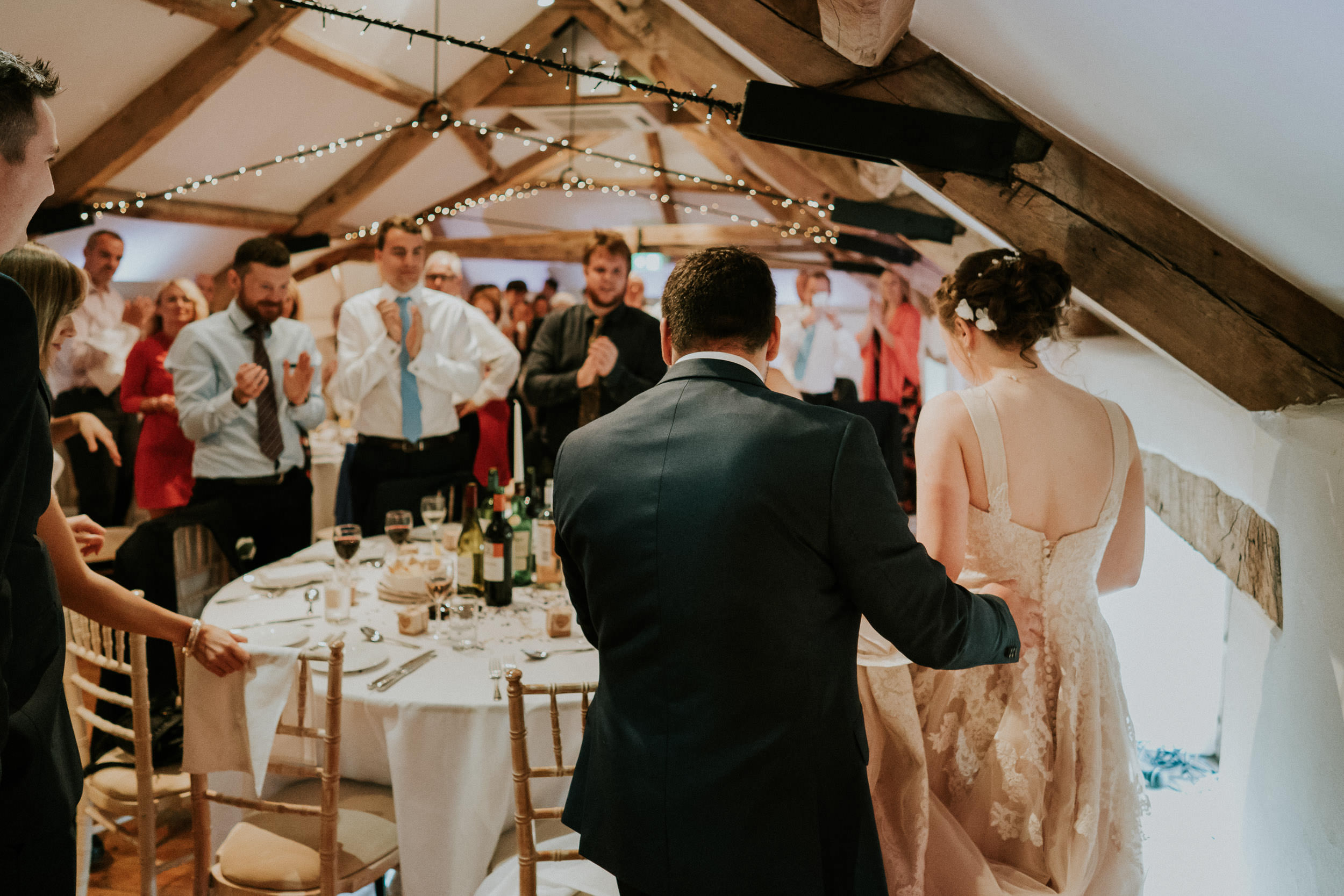 Pennard House Wedding - Bride and Groom Wedding Breakfast