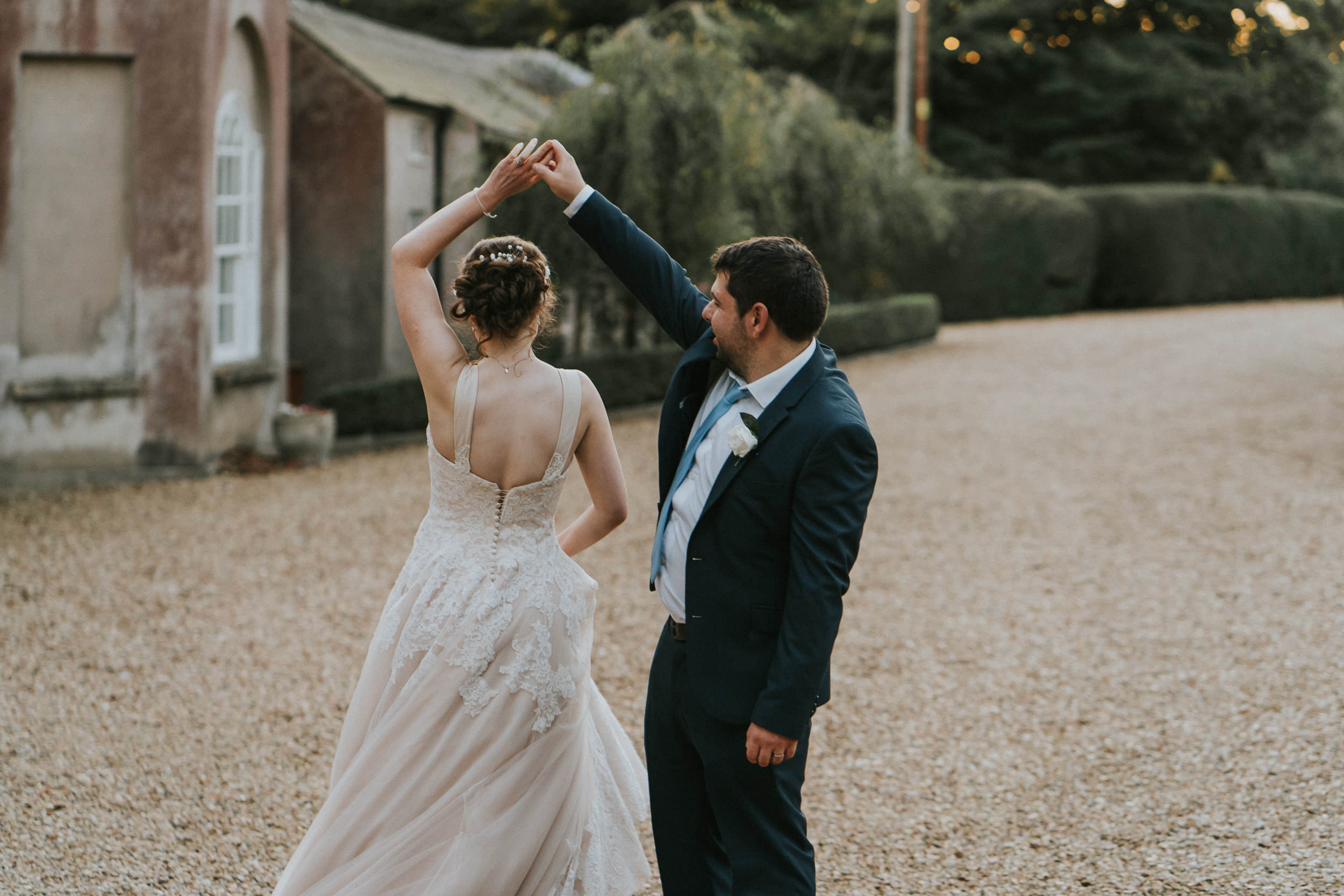 Pennard House Wedding - Bride and Groom Portrait