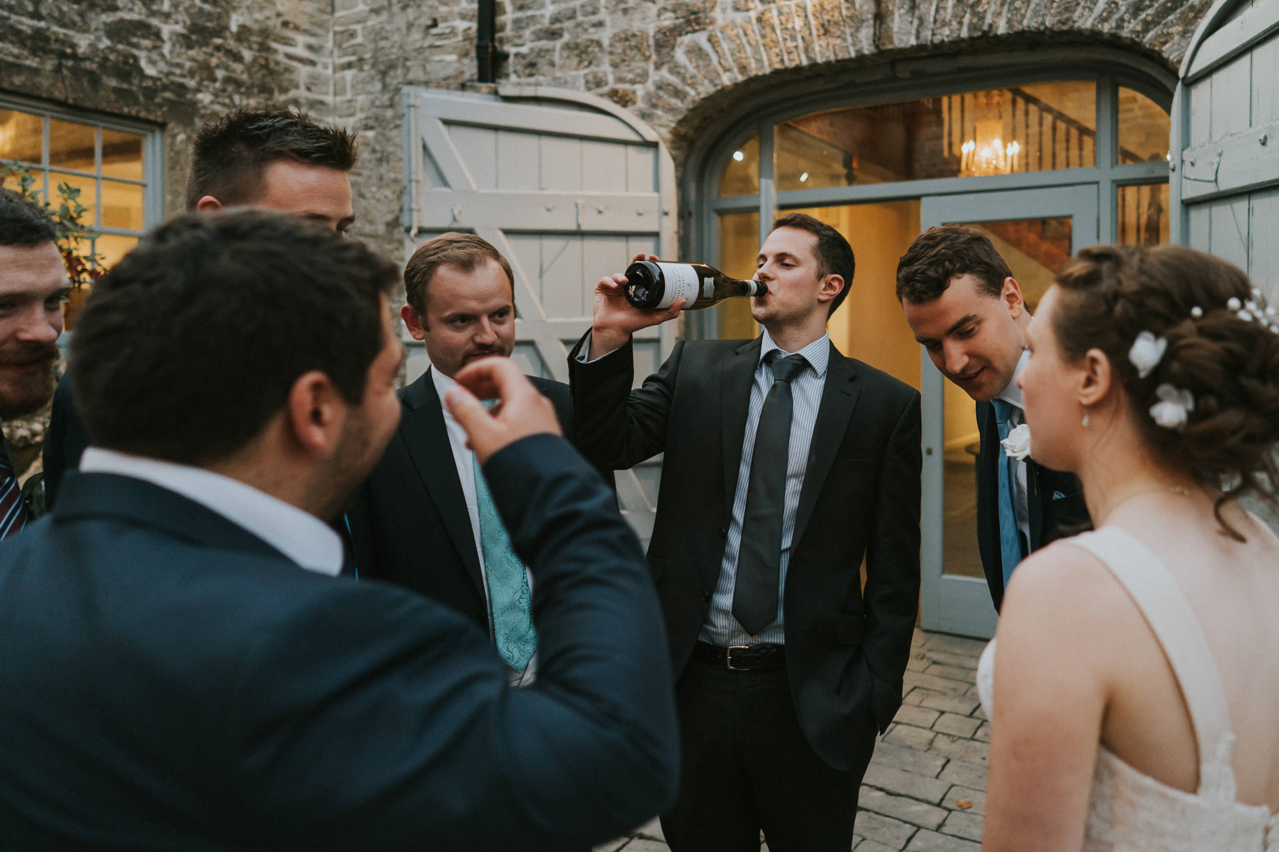 Pennard House Wedding - Guests at the Coach House