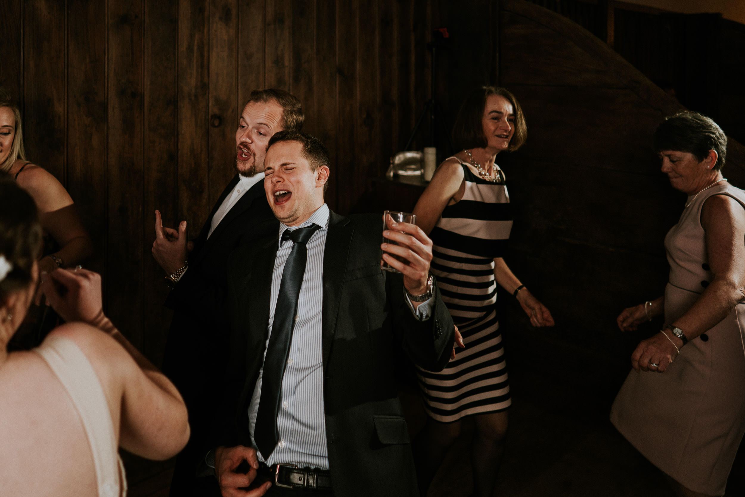Pennard House Wedding - Guests on the Dance Floor