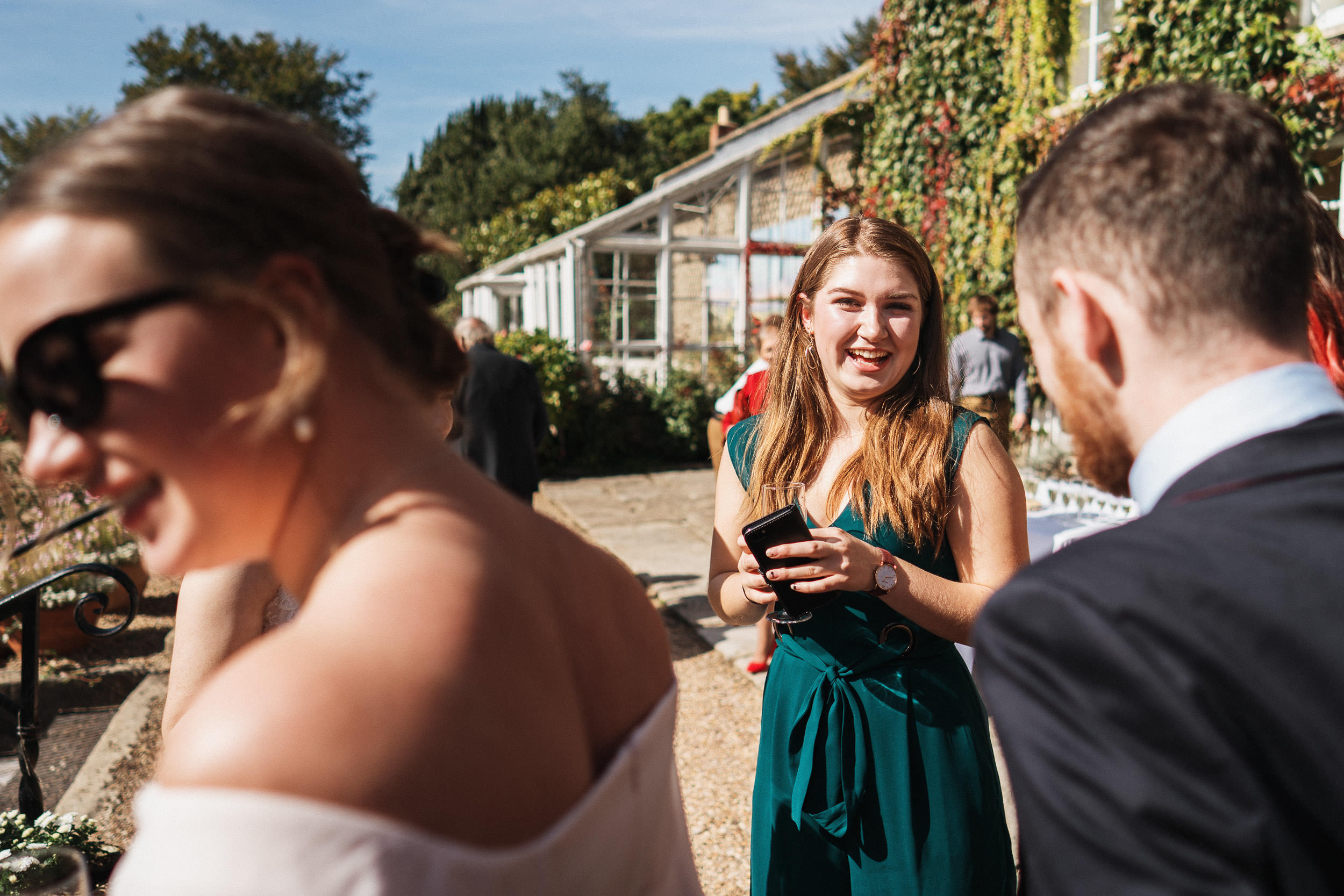 Pennard House Wedding - Reception on the Lawn