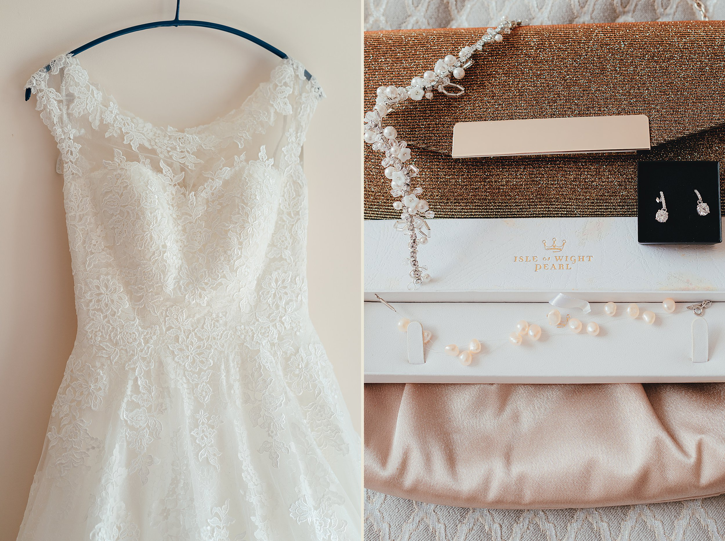 Westbury on Trym Wedding - Images of the Bride's wedding dress and accessories