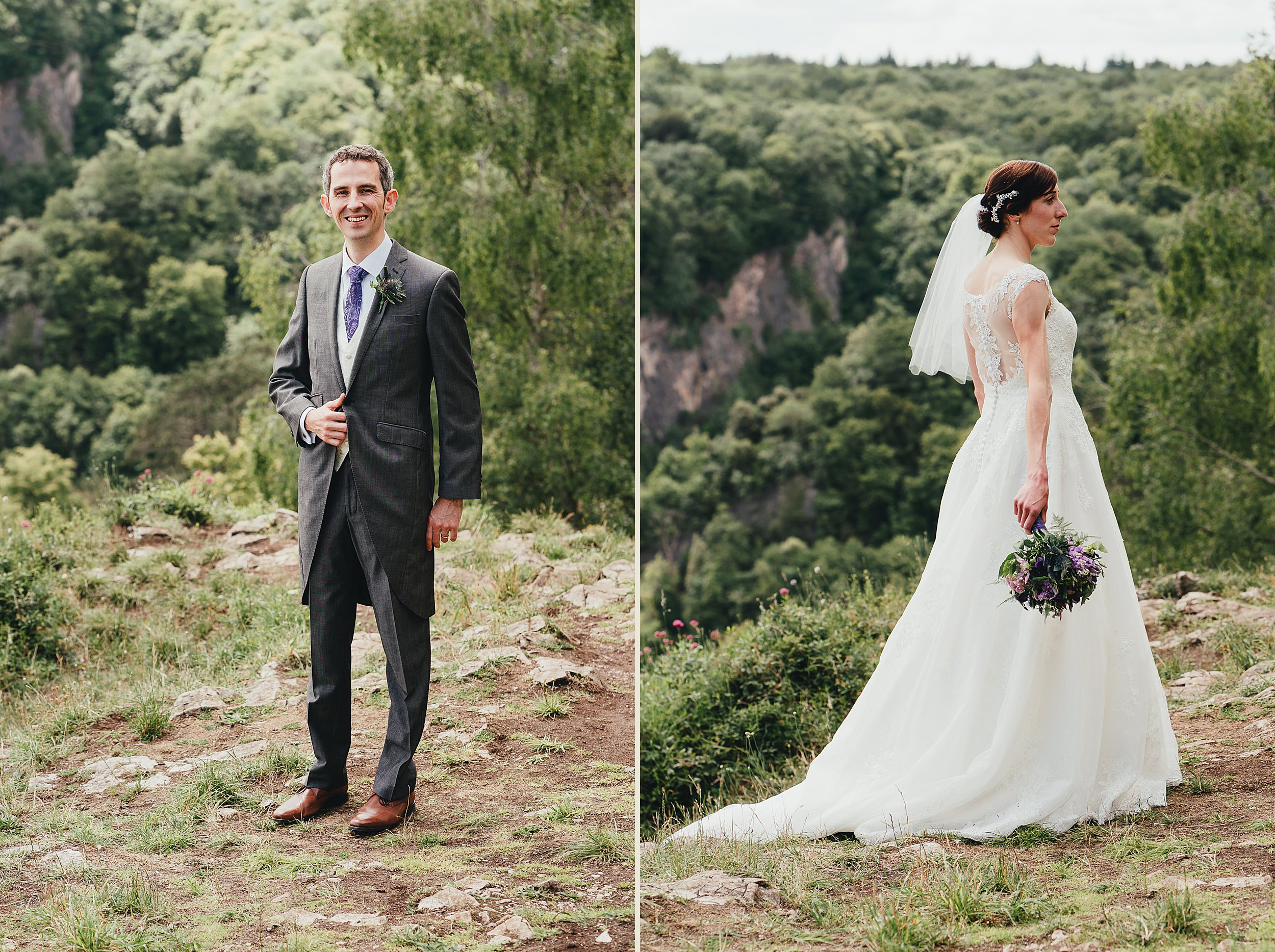 Portraits of the Bride and Groom from the Gully on Clifton Downs