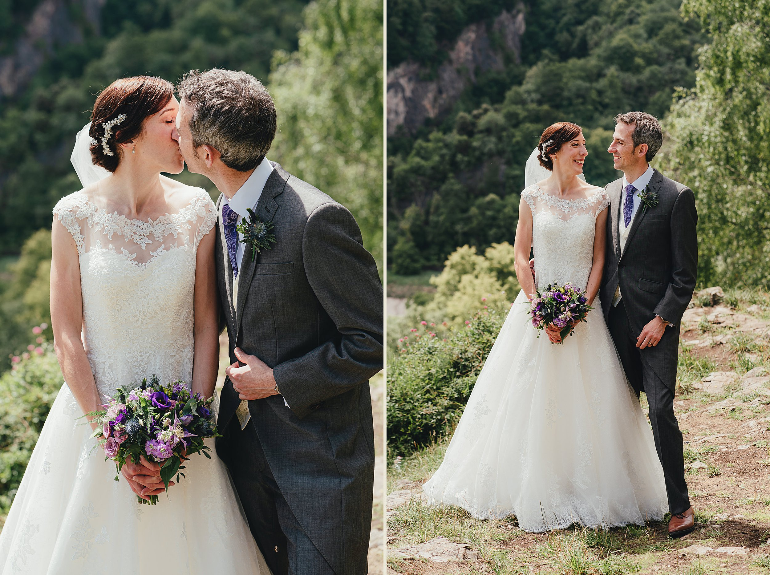 Portraits of the Bride and Groom in the Gully on Clifton Downs