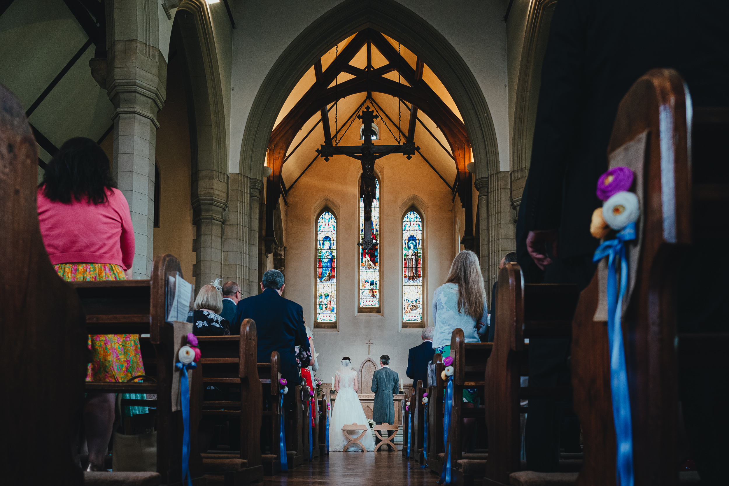 The Bride and Groom in the church