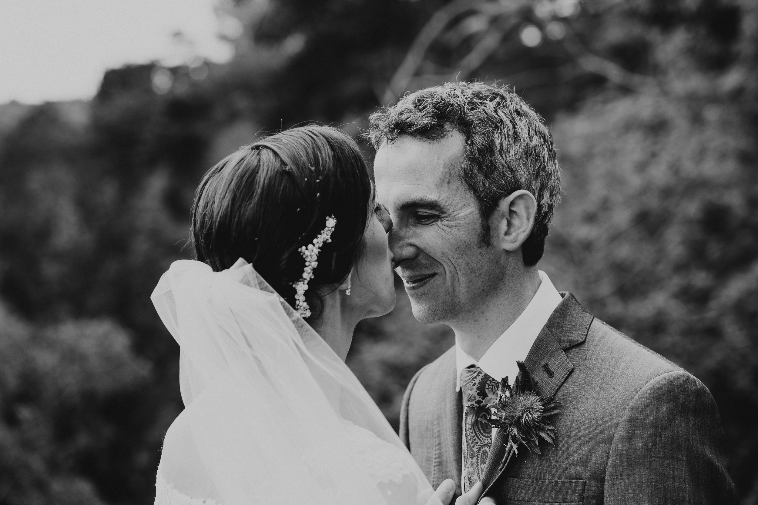 Portrait of the Bride and Groom on Clifton Downs