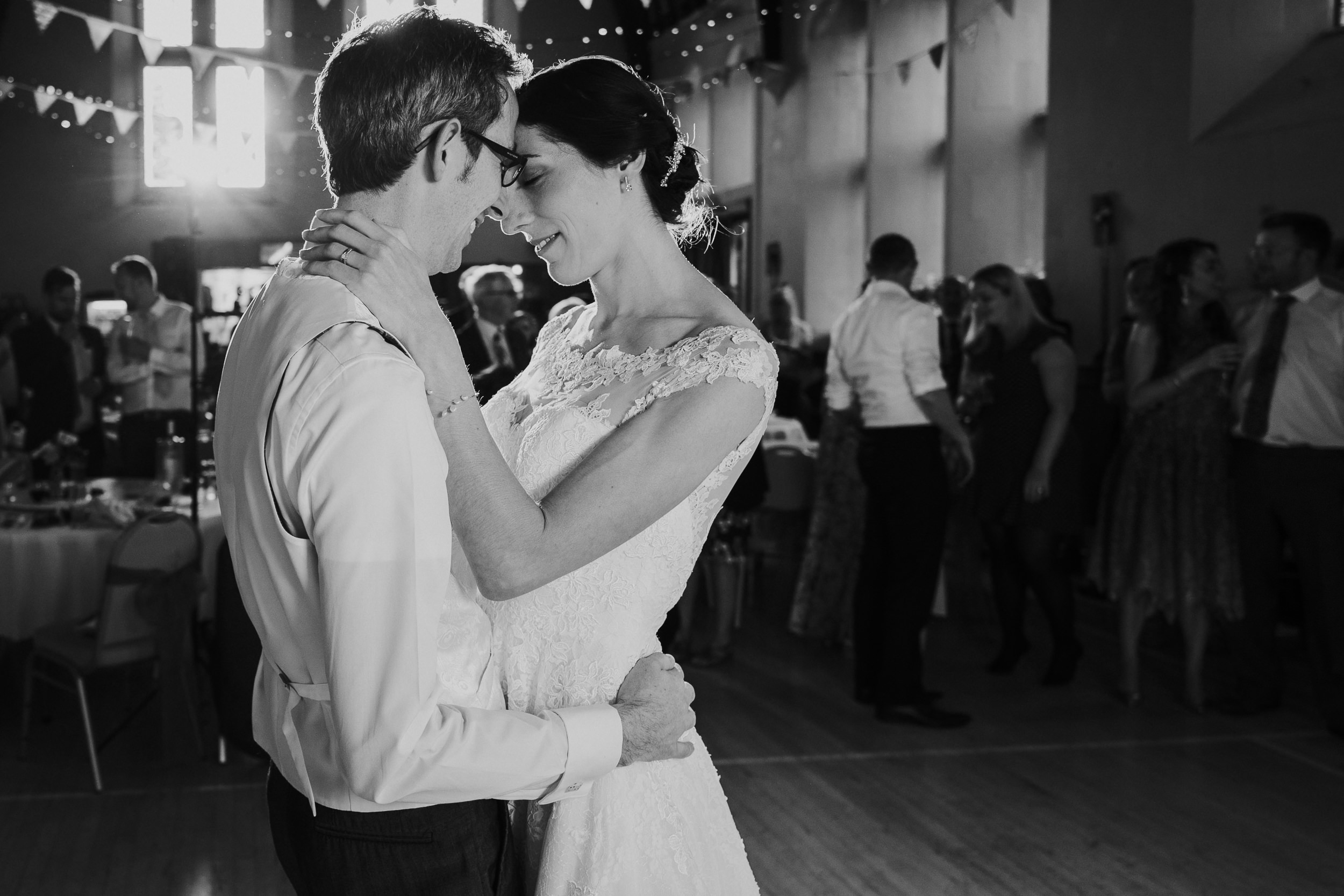 Westbury on Trym Wedding - The Bride and Groom dancing together at the village hall
