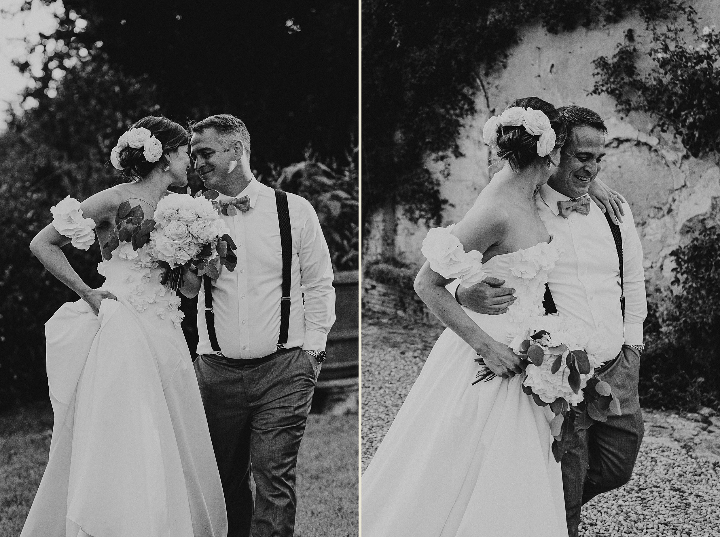 Tuscan Villa Wedding - Portraits of the Bride and Groom
