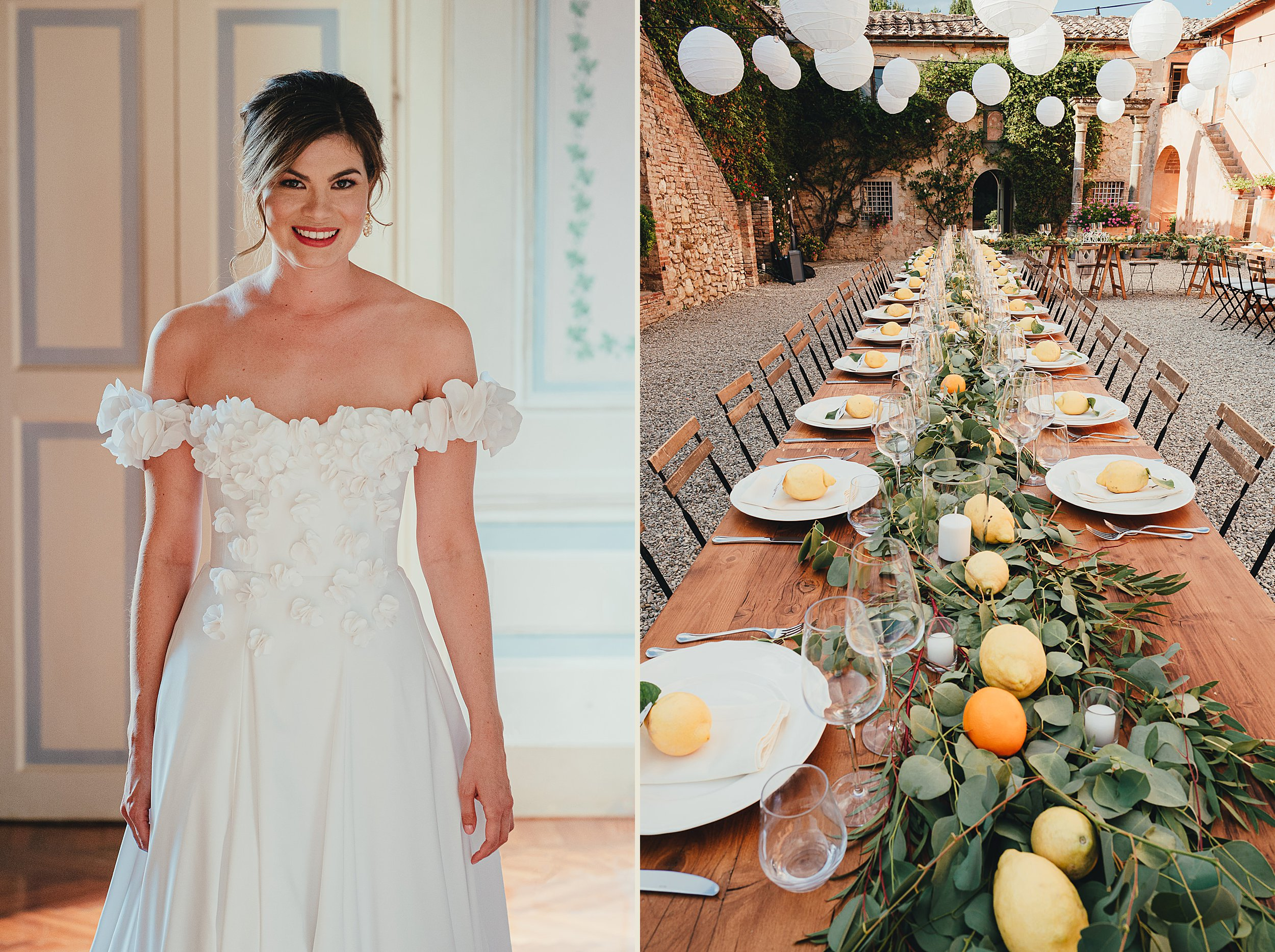 Tuscan Villa Wedding - Portrait of the Bride at Villa Catignano
