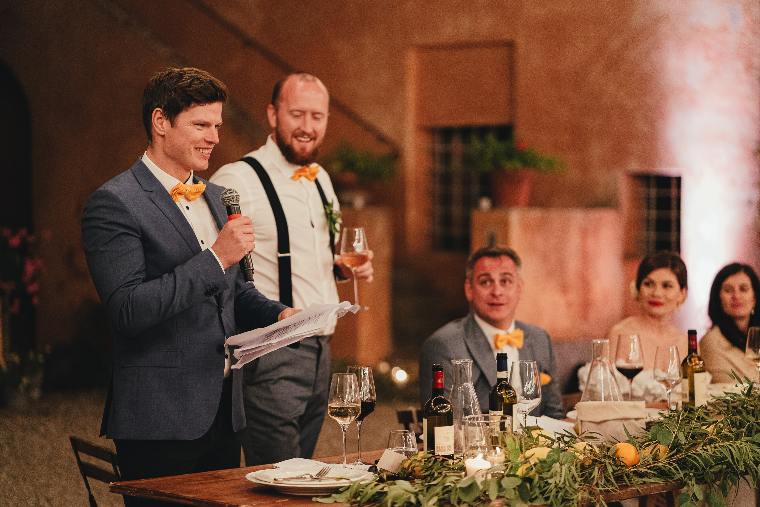 Tuscan Villa Wedding - The Best Men give their speech