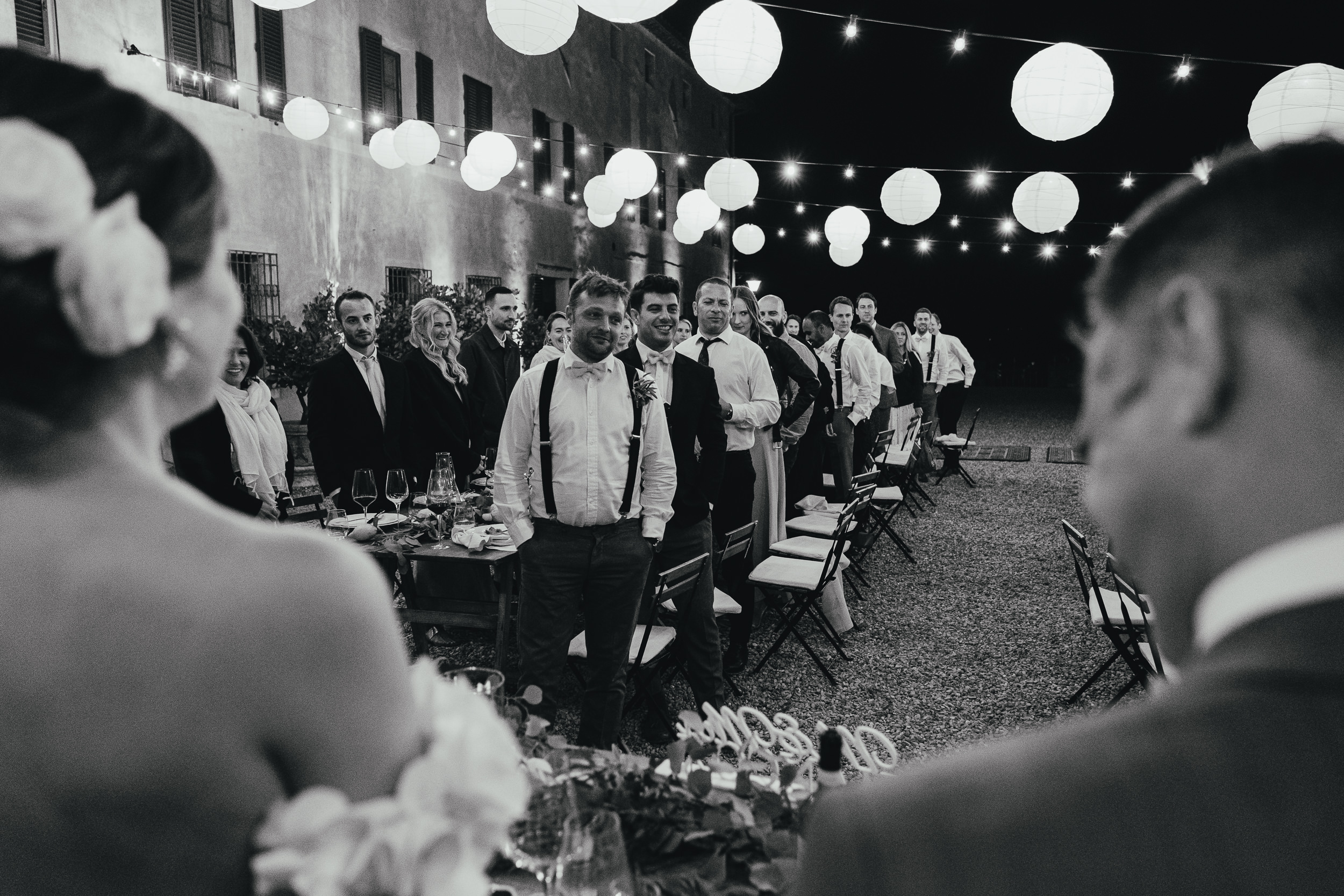Wedding Guests participate in the Best Man's Speech