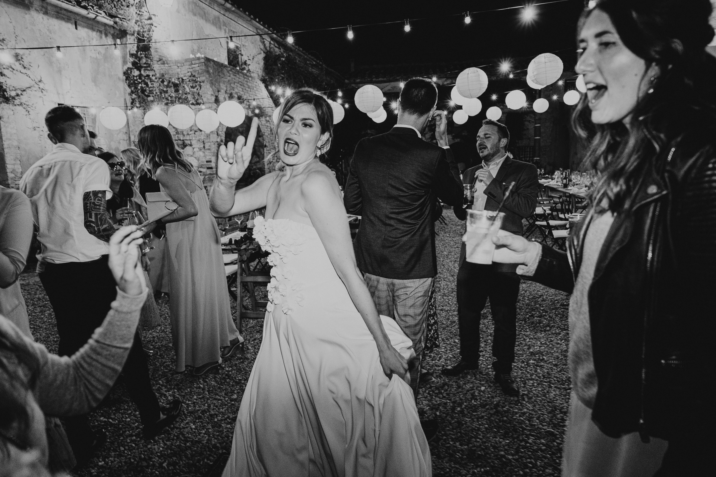 The Bride on the dancefloor