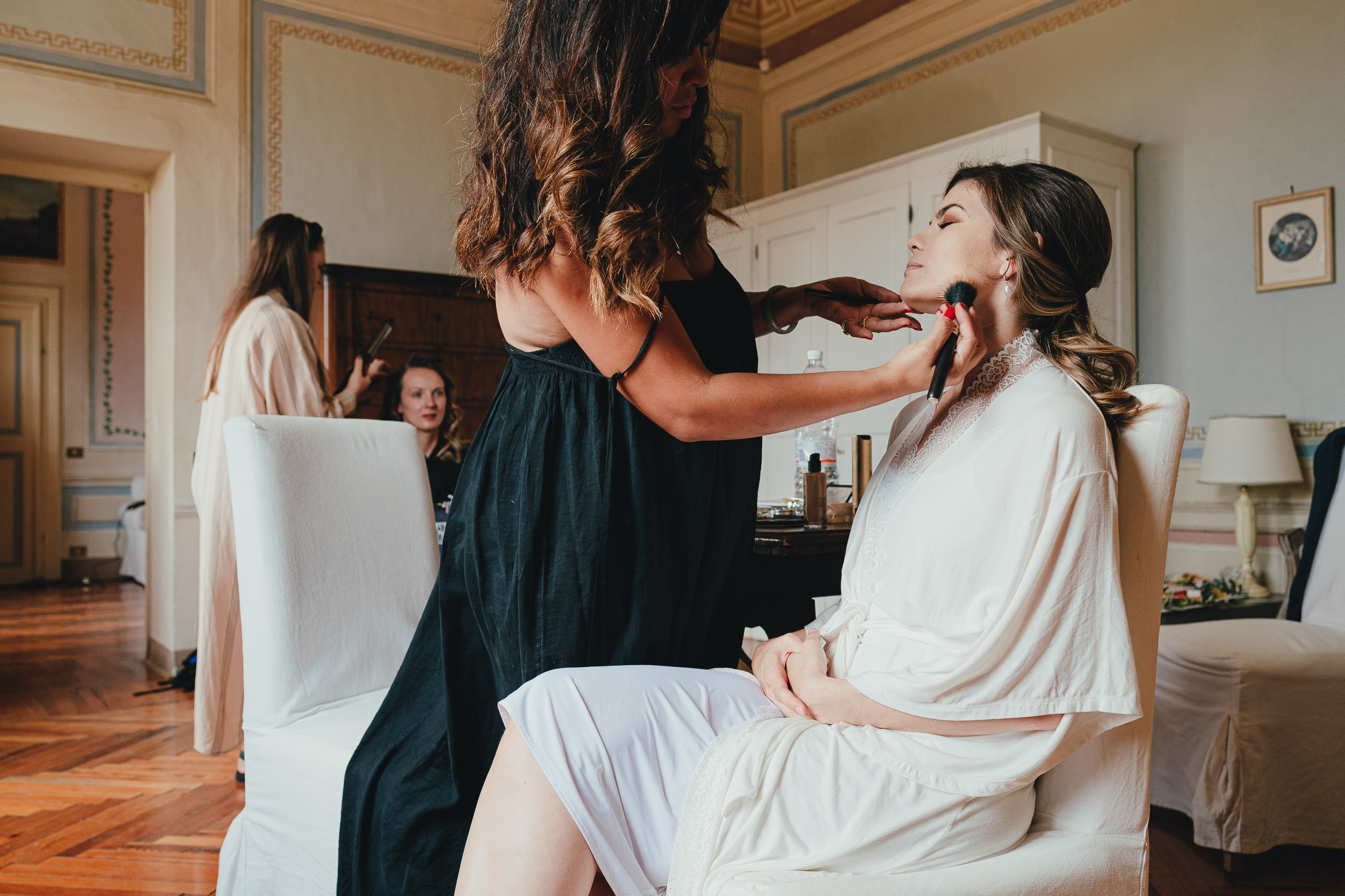 Tuscan Villa Wedding - bridal prep