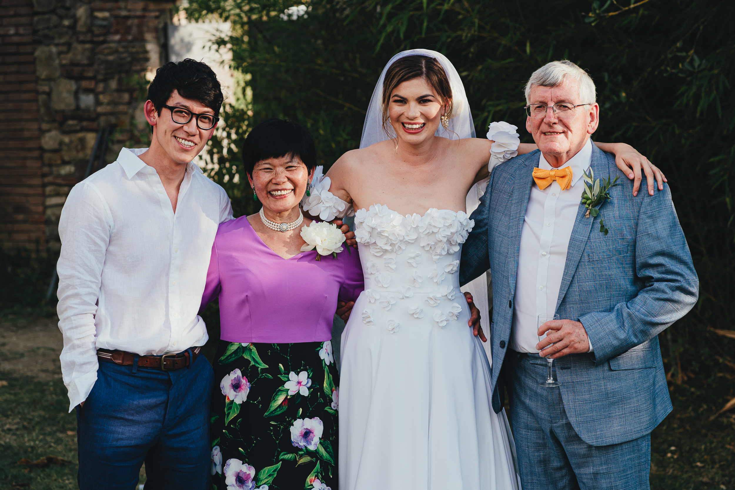 Portrait of the Bride and her family