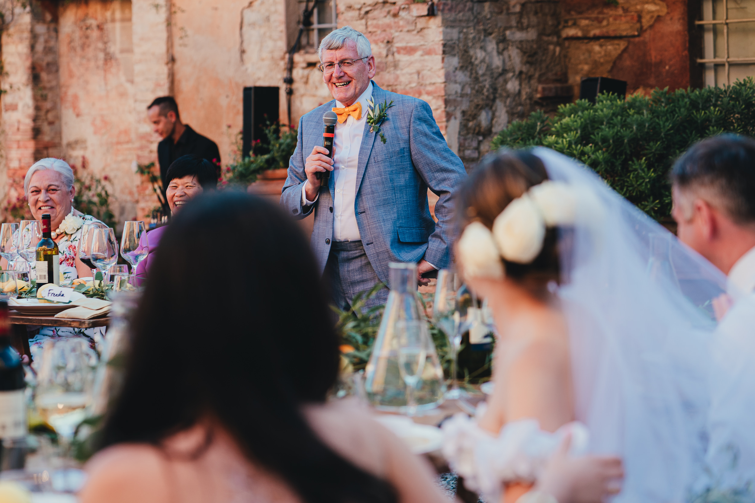 The Father of the Bride giving a speech