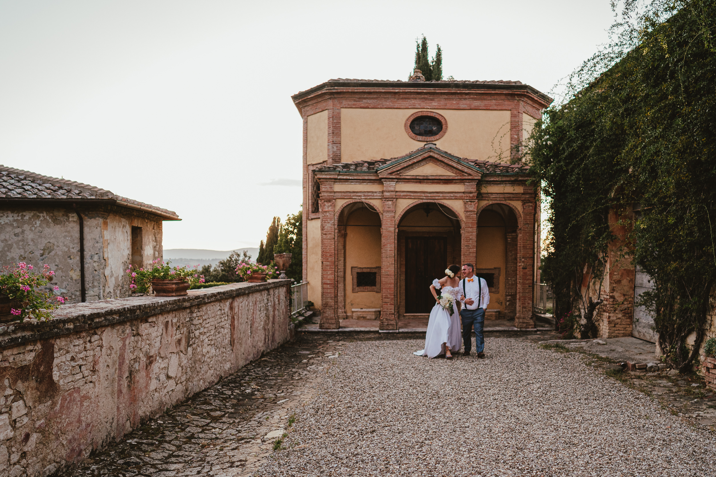 Tuscan Villa Wedding - Portrait of the Bride and Groom